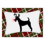 Tarjeta de Navidad del reno de Terrier irlandés