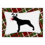 Tarjeta de Navidad del reno del perro del leopardo