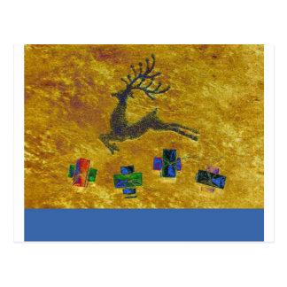 Tarjeta de Navidad del reno Postal