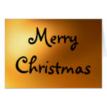 Tarjeta de Navidad del resplandor de oro