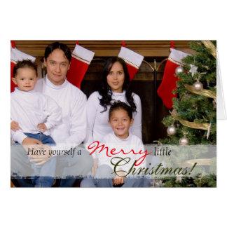 Tarjeta de Navidad del retrato de la familia
