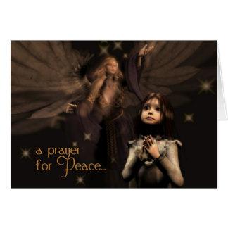 Tarjeta de Navidad del rezo de la paz