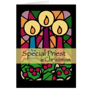 Tarjeta de Navidad del sacerdote