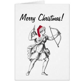 Tarjeta de Navidad del sagitario