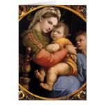 Tarjeta de Navidad del sedia del della de Madonna