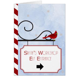 Tarjeta de Navidad del taller el | de Santa