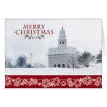 Tarjeta de Navidad del templo de Nauvoo