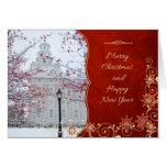 Tarjeta de Navidad del templo de Nauvoo - Lamppost