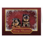 Tarjeta de Navidad del terrier de Yorkshire