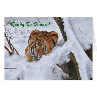 Tarjeta de Navidad del tigre de Amur 2015