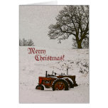 Tarjeta de Navidad del tractor