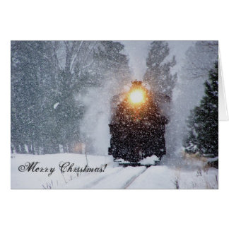 Tarjeta de Navidad del tren del valle de la acémil