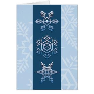Tarjeta de Navidad del trío del copo de nieve