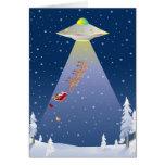 Tarjeta de Navidad del UFO