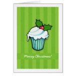 Tarjeta de Navidad del verde de la magdalena del a