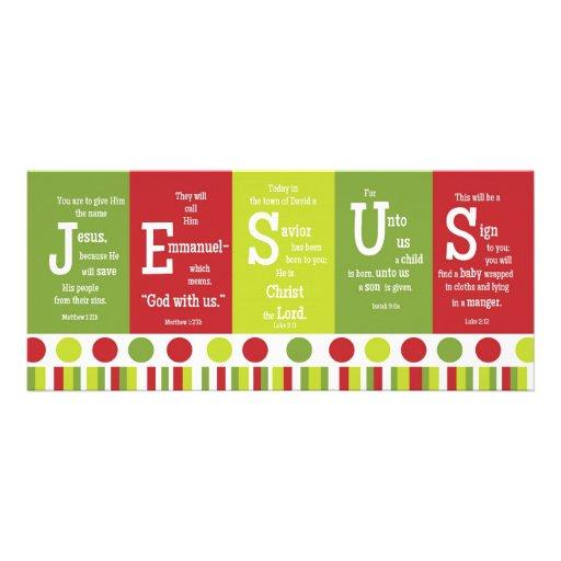 Tarjeta de Navidad del verso de la escritura de JE Comunicados Personales