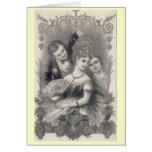 Tarjeta de Navidad del Victorian del vintage