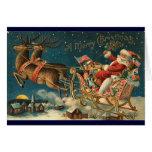Tarjeta de Navidad del Victorian - Santa
