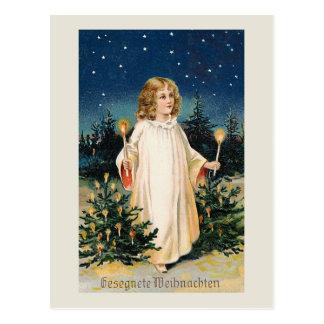 "Tarjeta de Navidad del vintage de ""Gesegnete Tarjeta Postal"