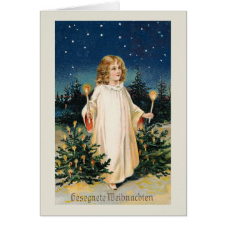 """Tarjeta de Navidad del vintage de """"Gesegnete Weihn Tarjeta De Felicitación"""