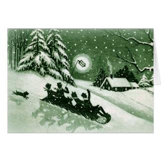 Tarjeta de Navidad del vintage de la diversión