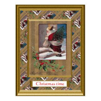 Tarjeta de Navidad del vintage de la reproducción, Tarjeta Postal