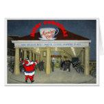 Tarjeta de Navidad del vintage de New Orleans