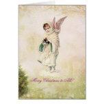 Tarjeta de Navidad del vintage del Victorian