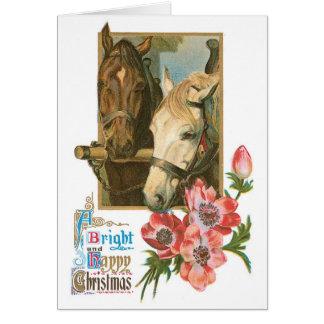Tarjeta de Navidad del vintage para los amantes de