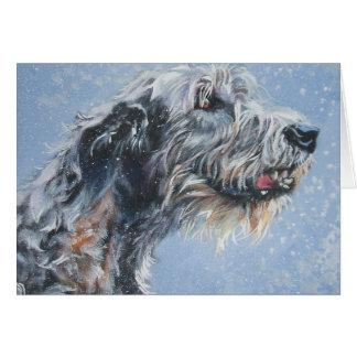 Tarjeta de Navidad del wolfhound irlandés