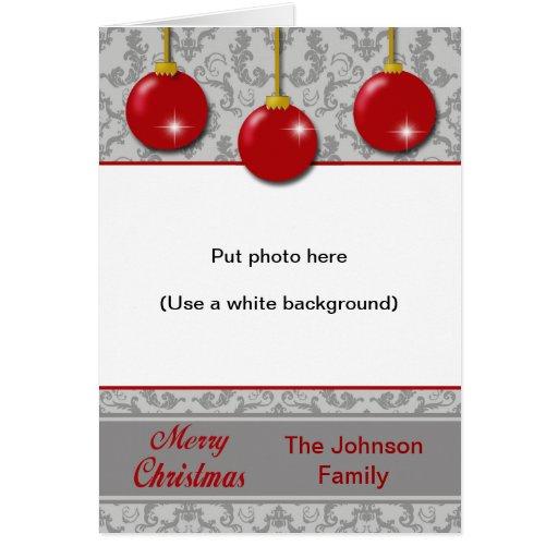 Tarjeta de Navidad delantera de encargo - ornament