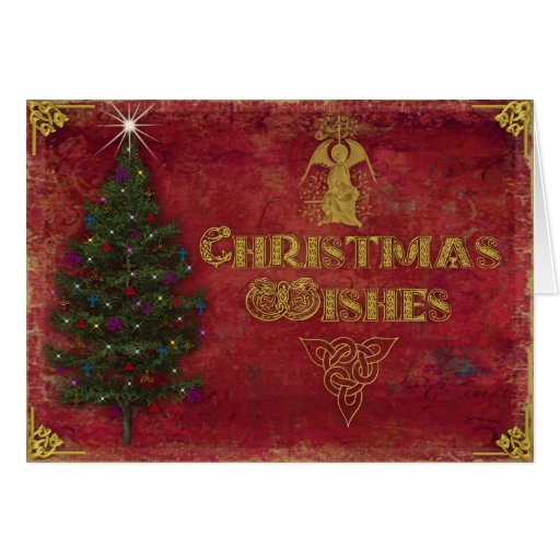 Tarjeta de Navidad. Deseos del navidad