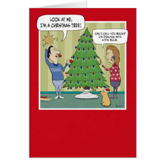 Tarjeta de Navidad divertida: Bulbo oscuro