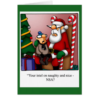 "Tarjeta de Navidad divertida ""de Intel travieso o"