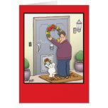 Tarjeta de Navidad divertida de la guirnalda del p