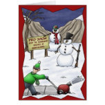 Tarjeta de Navidad divertida de la quitanieves de
