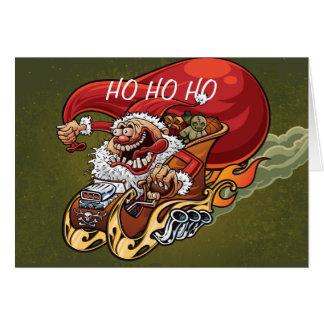 Tarjeta de Navidad divertida de Papá Noel Santa ca