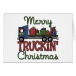 Tarjeta de Navidad divertida del camionero