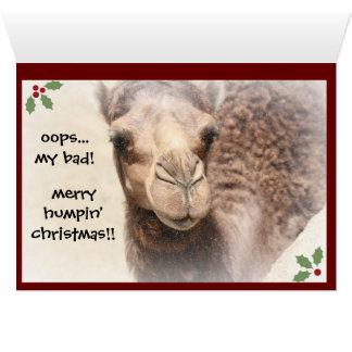 Tarjeta de Navidad divertida del día de chepa del