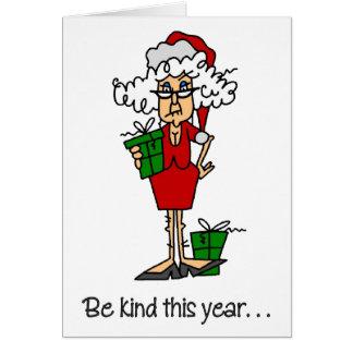 Tarjeta de Navidad divertida del Prozac