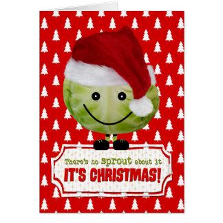 Tarjeta de Navidad divertida - el brote de las