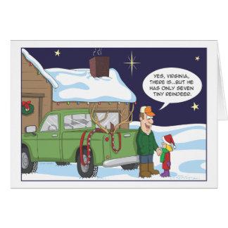 Tarjeta de Navidad divertida, humor de la caza de
