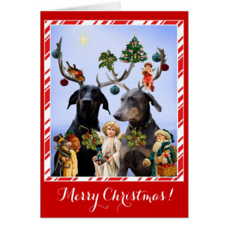 Tarjeta de Navidad divertida, linda de la parodia