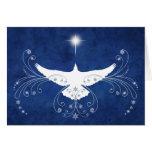 Tarjeta de Navidad divina de la paloma