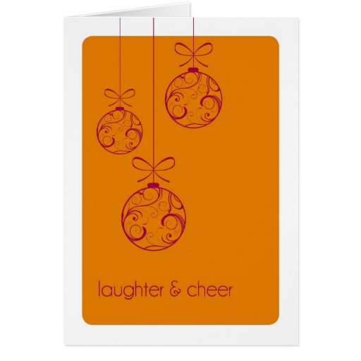 Tarjeta de Navidad doblada personalizado de la ris