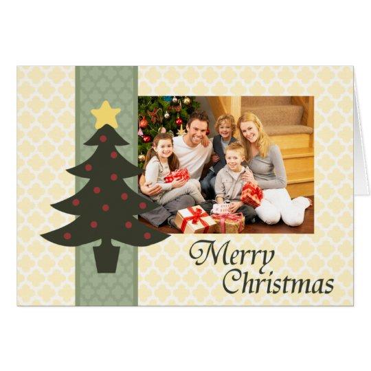 Tarjeta de Navidad doblada Quatrefoil encantadora