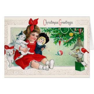 Tarjeta de Navidad dulce - tarjeta de Childs