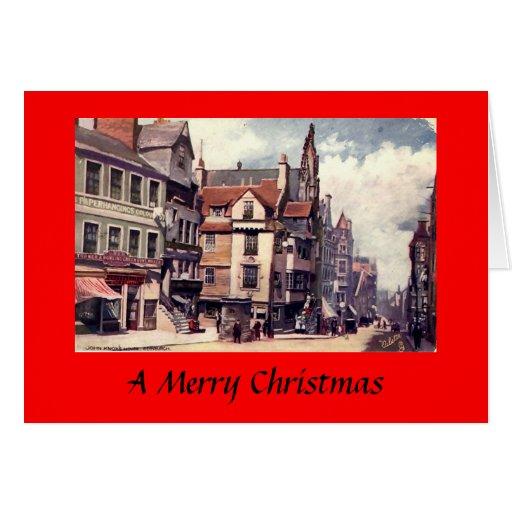 Tarjeta de Navidad - Edimburgo