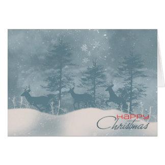 Tarjeta de Navidad elegante con los ciervos en mad