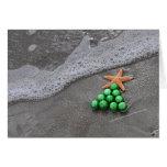 Tarjeta de Navidad elegante de la playa